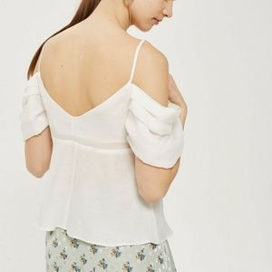 New TopShop Volume Sleeve Camisole Bardot Top